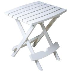 Adams Manufacturing Adirondack Chairs Hammock Chair Stand Plans Quik Fold White Resin Plastic Outdoor Side Table