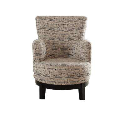 swivel club chair with ottoman modern wire accent chairs the home depot print multi