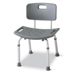 Chair Stool With Back High Chairs For Twins Medline Bath Safety Mds89745rh The Home Depot