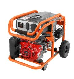 ridgid 7 000 watt gasoline powered electric start portable generator with honda gx390 engine [ 1000 x 1000 Pixel ]