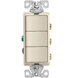 15 amp 3 way 120 volt decorator heavy duty grade 3 single pole [ 1000 x 1000 Pixel ]