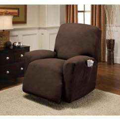 Slipcovers For Living Room Chair Captains Cover Pontoon Boat Furniture The Home Depot Chocolate Optic Recliner Stretch Slipcover