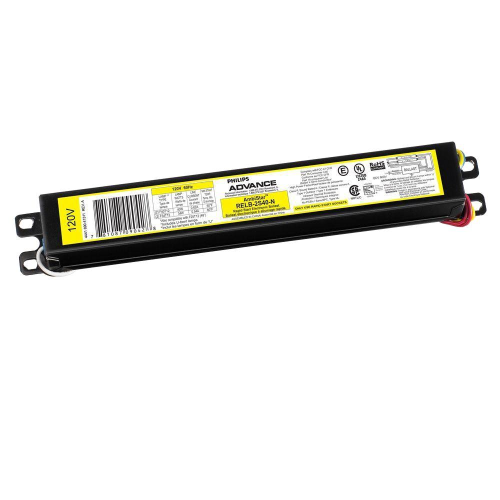 advance t8 ballast wiring diagram chevy s10 stereo t12 library philips ambistar 40 watt 2 lamp rapid start high rh homedepot com electric