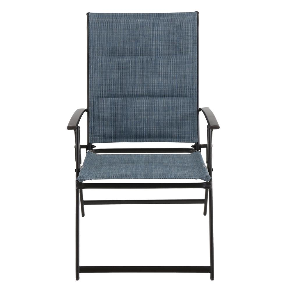 chair steel folding dining table with storage hampton bay mix and match outdoor in cafe this review is from denim sling 2 pack
