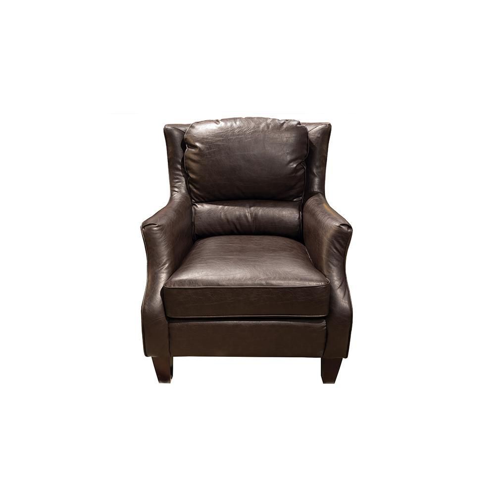 leather accent chairs button tufted chair garnett transitional crackle espresso brown 02