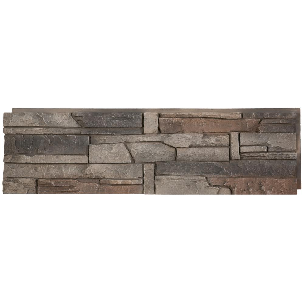Genstone Stacked Stone Kenai 12 In X 42 In Faux Stone Siding Panel G2sskihp The Home Depot