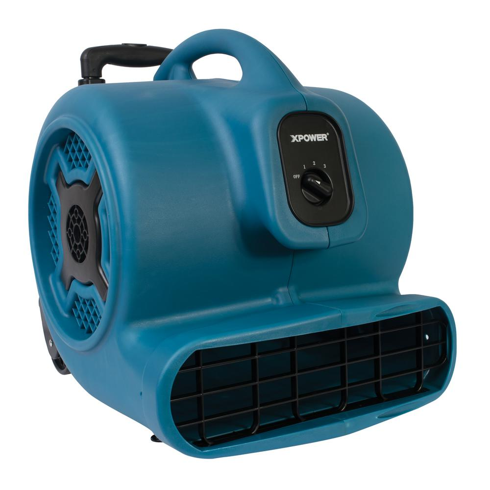 XPOWER 3/4 HP 3200 CFM 3 Speed Air Mover Carpet Dryer