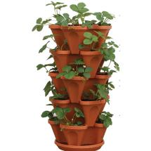 Stacky 12 In. X 5.5 Terracotta Plastic Vertical