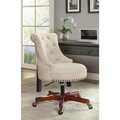 Office Club Chairs Ikea Chair Covers Australia Linon Home Decor Sinclair Natural Polyester