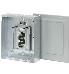 eaton br 125 amp 8 space 16 circuit indoor main lug loadcenter with surface door [ 1000 x 1000 Pixel ]