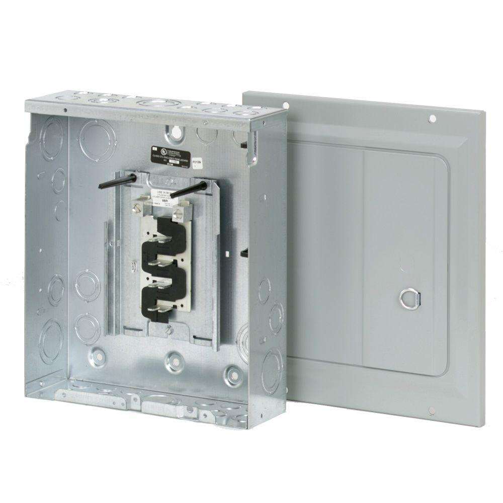 medium resolution of eaton br 125 amp 8 space 16 circuit indoor main lug loadcenter with surface door