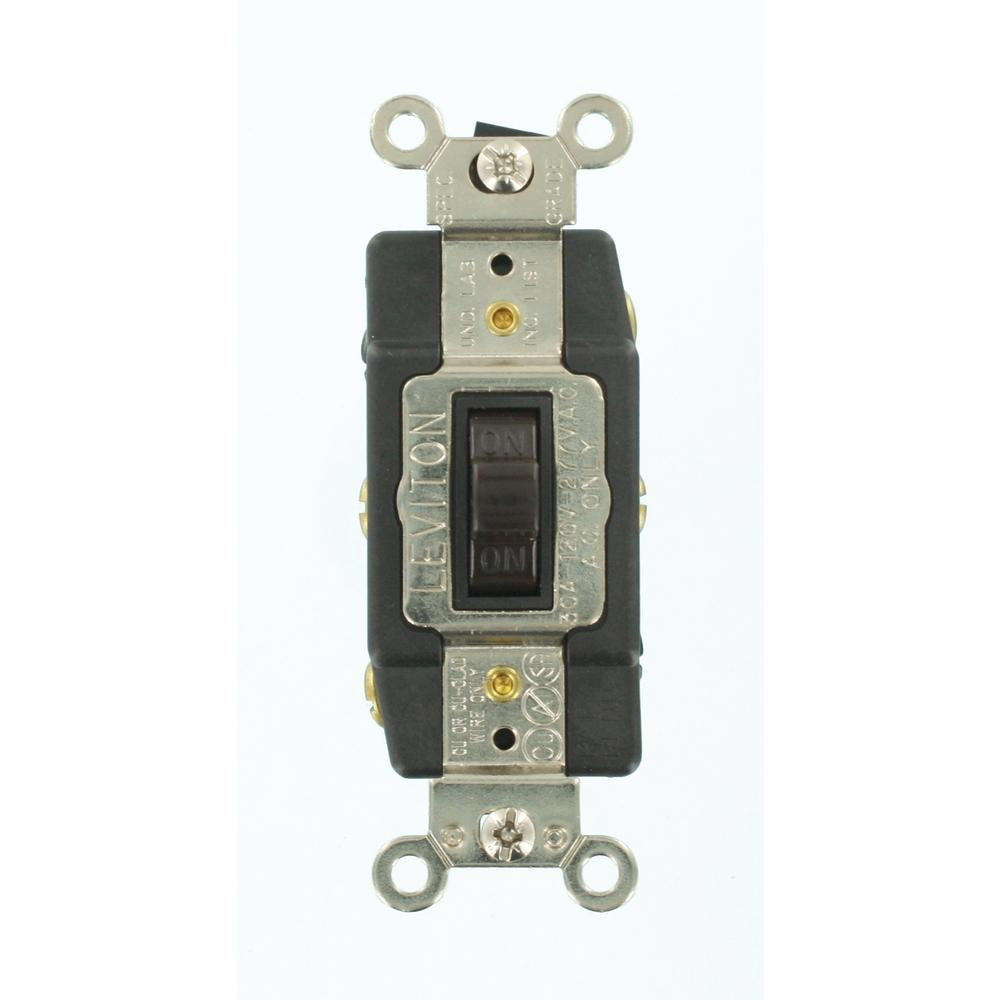 medium resolution of leviton 30 amp industrial grade heavy duty double pole double throw cooper wiring devices 30amp brown single pole locking light switch