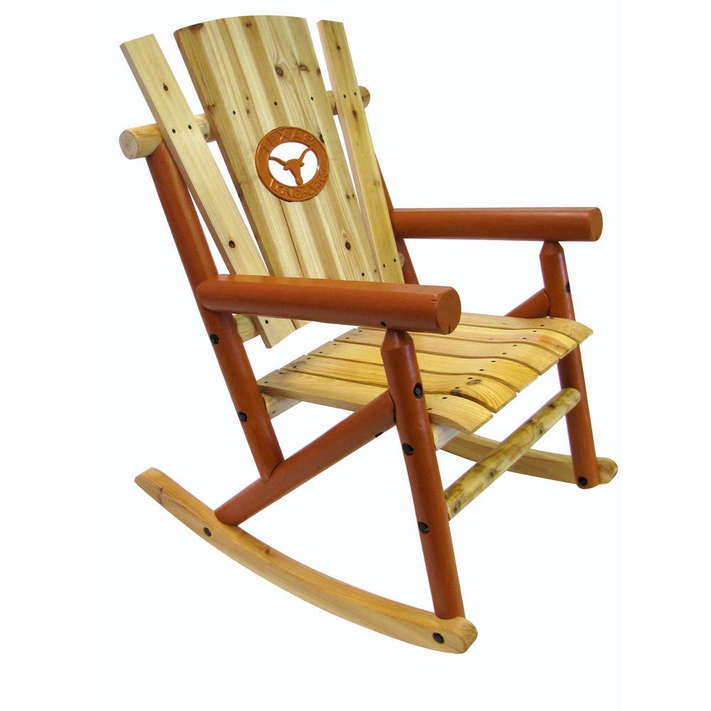 Hampton Bay Natural Wood Rocking ChairIT130828N  The