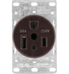 eaton 50 amp heavy duty grade flush mount power receptacle with 3 wire grounding [ 1000 x 1000 Pixel ]