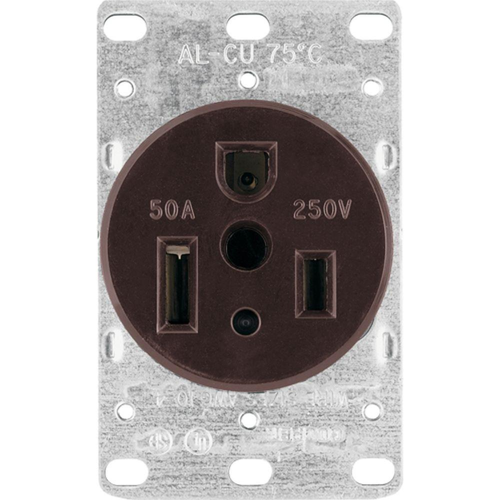 hight resolution of eaton 50 amp heavy duty grade flush mount power receptacle with 3 wire grounding