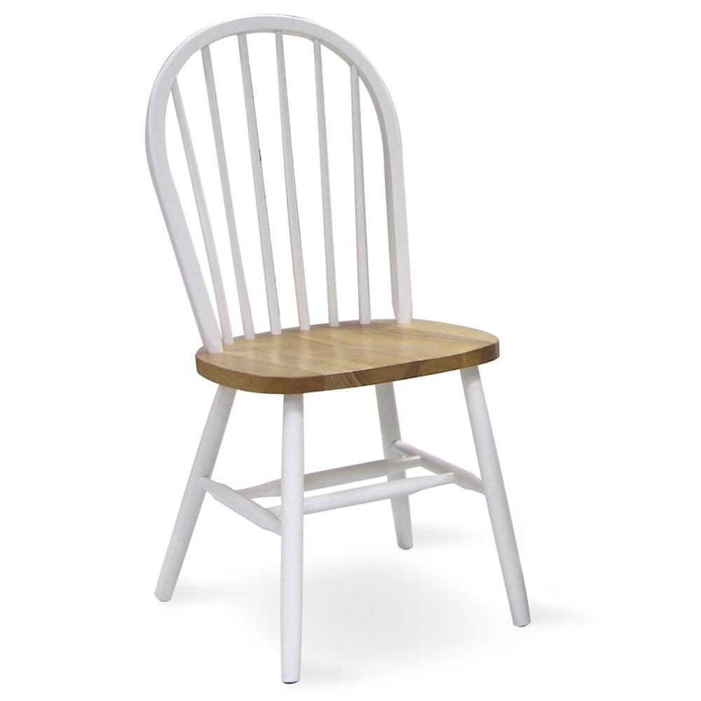 White Wooden Dining Chairs White And Natural Wood Spindle Back Windsor Dining Chair