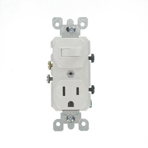 small resolution of leviton 15 amp combination switch outlet white 5225 ws the home depot leviton 5225 wiring diagram