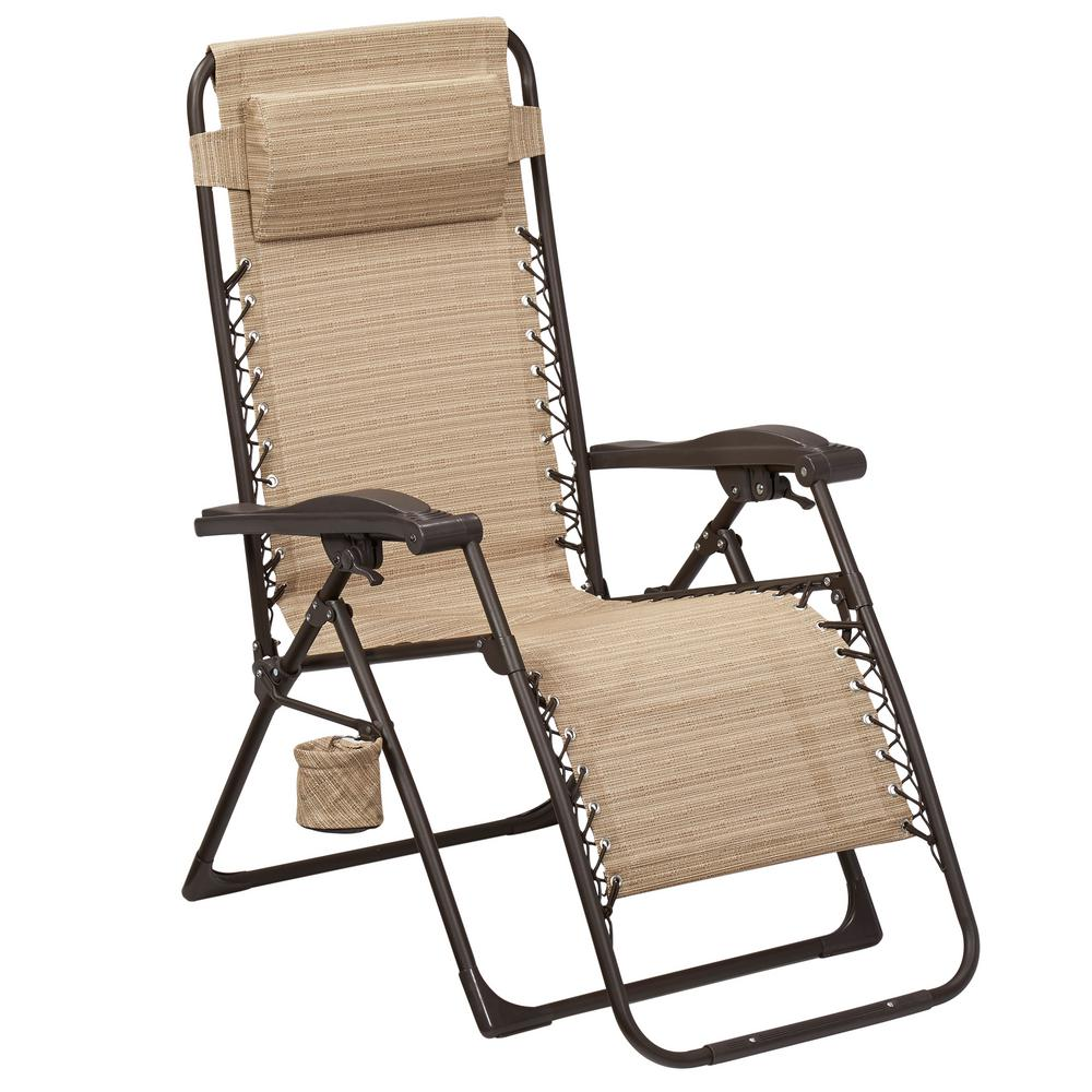 sonoma anti gravity chair review desk for small spaces hampton bay mix and match zero sling outdoor chaise lounge in cafe