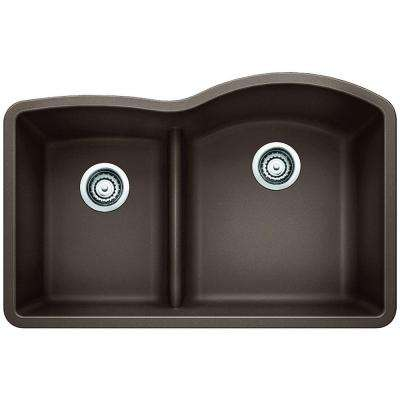brown kitchen sink cabinet door bumper pads blanco sinks the home depot diamond undermount