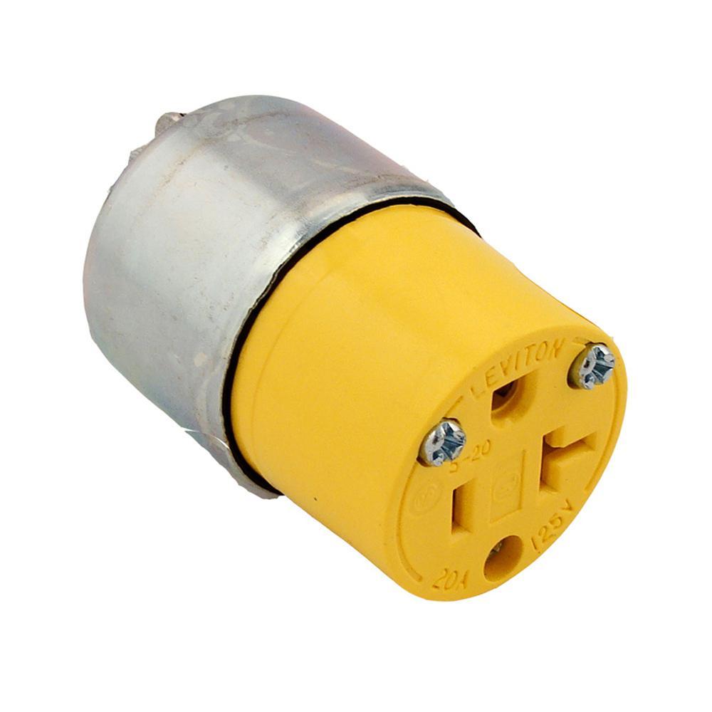 medium resolution of 20 amp 125 volt grounding plug yellow