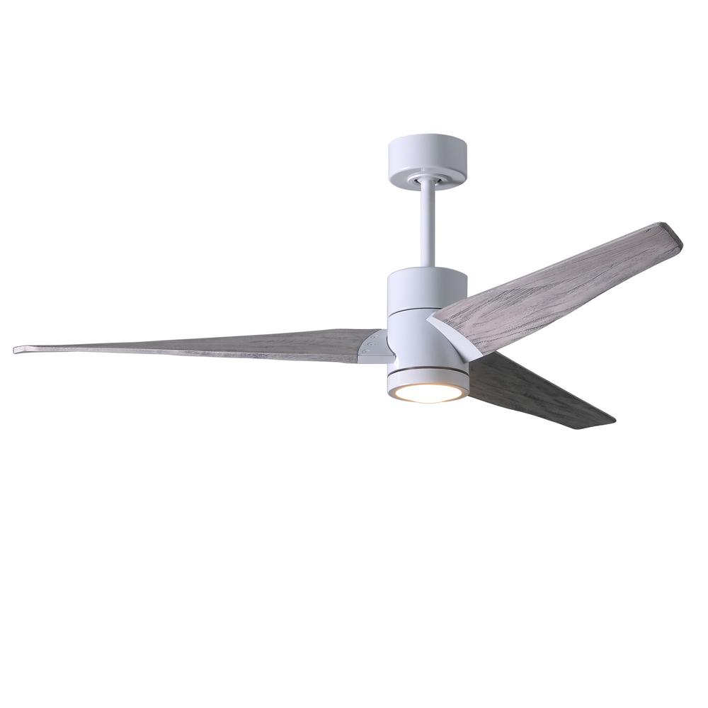 medium resolution of led indoor outdoor damp gloss white ceiling fan