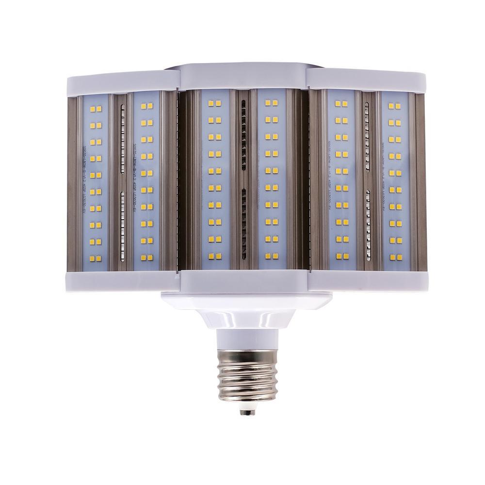hight resolution of 250 watt equivalent 80 watt corn cob shoebox led high lumen area light bulb bypass mog 120 277v daylight 5000k 84103