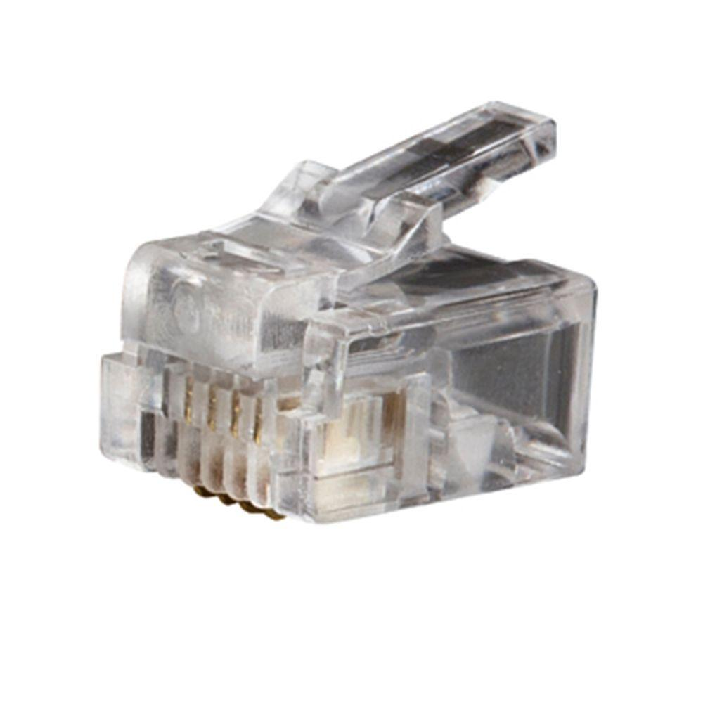 medium resolution of klein tools telephone plug rj11 6p4c 25 pack