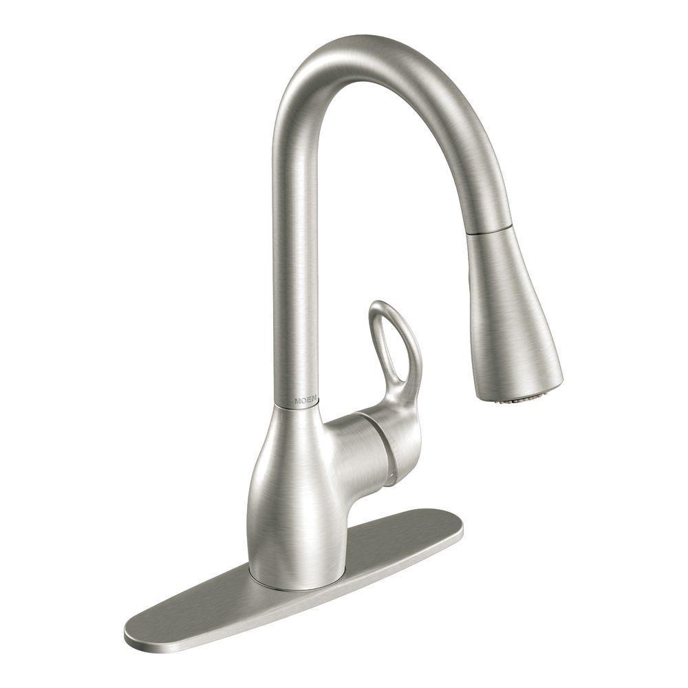 MOEN Kleo SingleHandle PullDown Sprayer Kitchen Faucet
