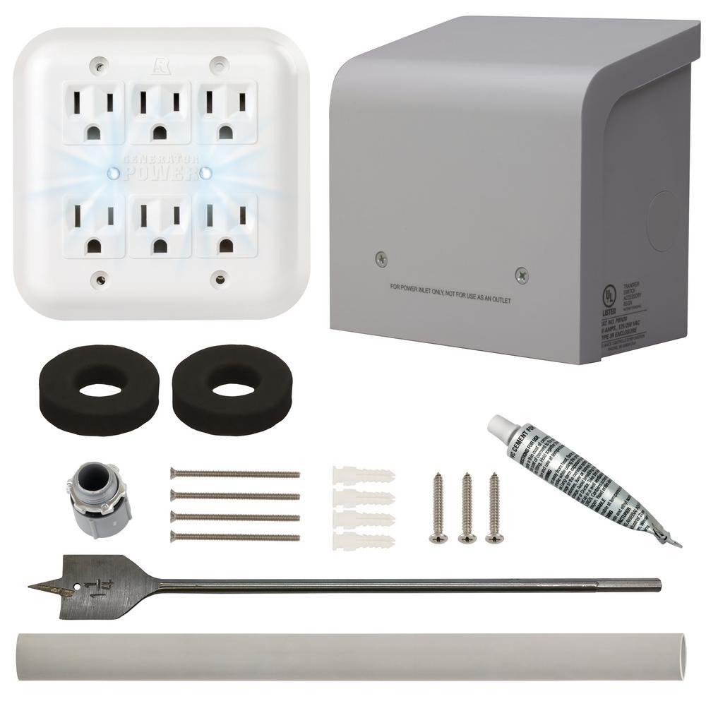 medium resolution of portable generator through the wall kit