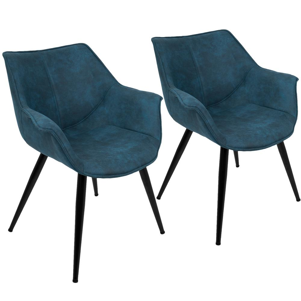 accent chair blue overstock outdoor chairs lumisource wrangler set of 2 ch wrng bu2 the