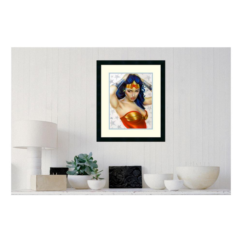 amanti art in h x in w wonder woman by shen framed