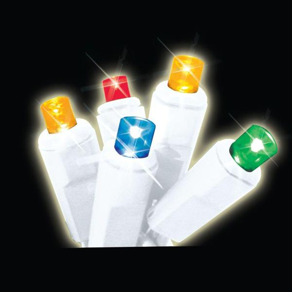 Brite Star 35-light Led Multi-color Battery-operated Icicle Light Set-41-590-00 - Home Depot