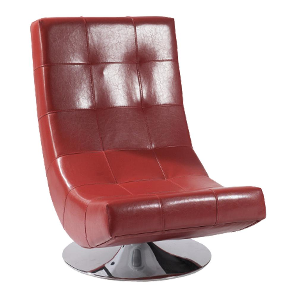 Red Leather Swivel Chair Mario Swivel Chair Red Bonded Leather