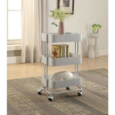 metal kitchen carts kitchens to go islands utility tables the home depot 3 tier white storage cart