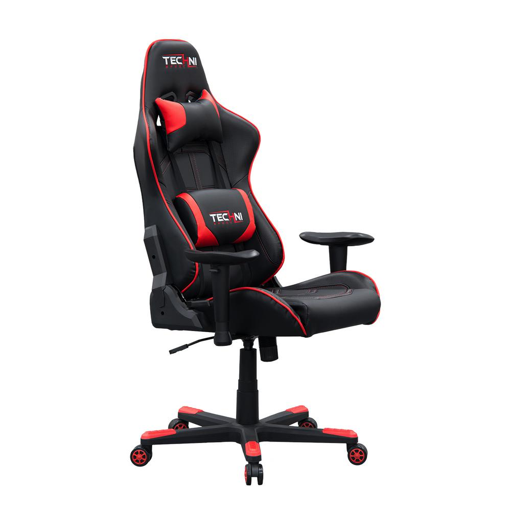 Video Chair Techni Sport Ergonomic Red High Back Racer Style Video Gaming