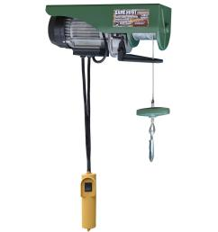buffalo tools 440 lb electric cable hoist with wired control switch ehoistul electric hoist wiring diagram [ 1000 x 1000 Pixel ]