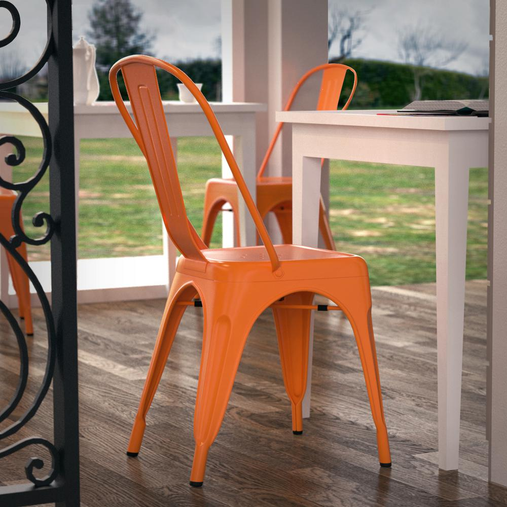 orange side chair reserved signs for chairs template poly and bark trattoria set of 4 em 112 ora x4