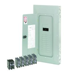 eaton br 200 amp 20 space 40 circuit indoor main breaker loadcenter with cover value pack [ 1000 x 1000 Pixel ]