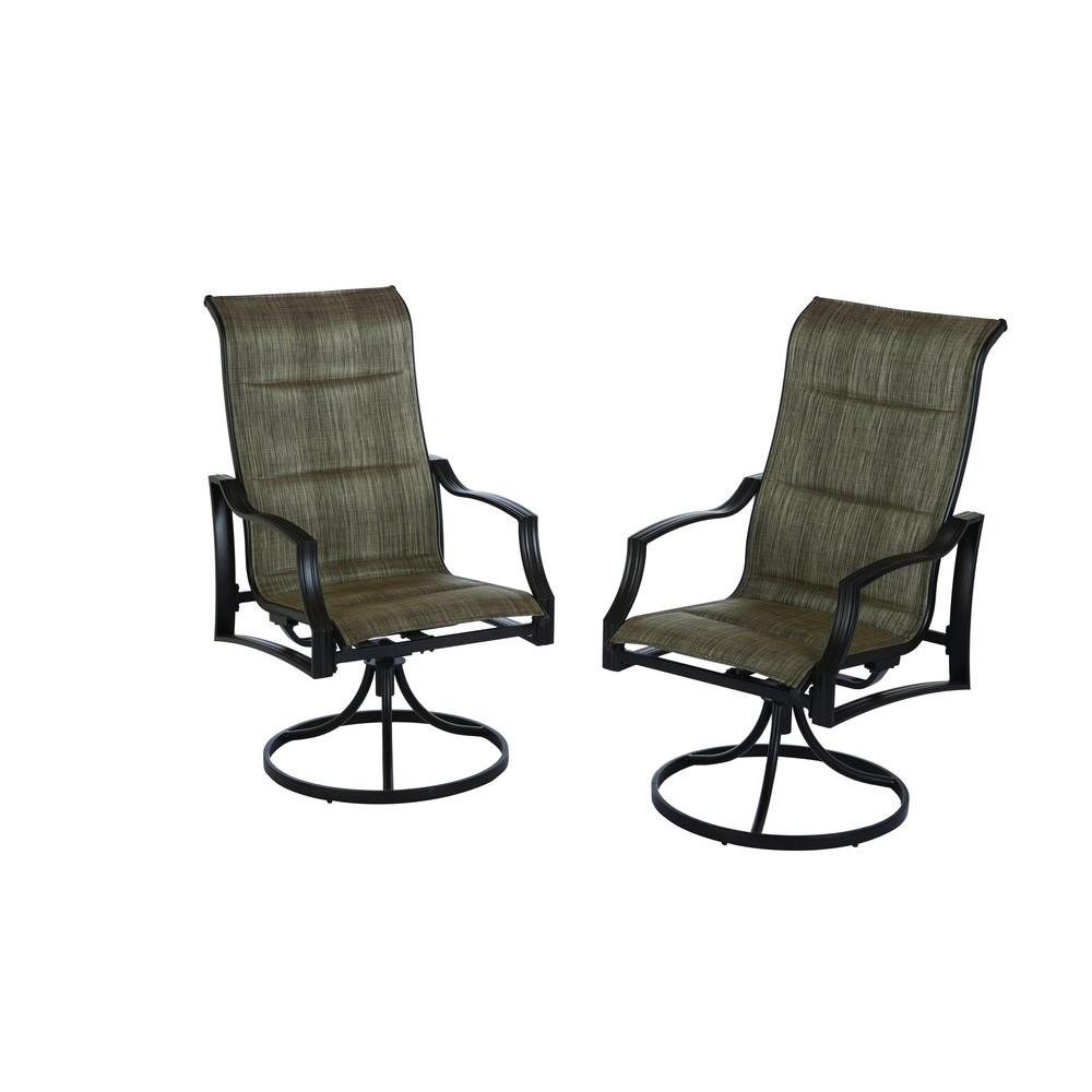 deck chair sling replacement folding garden hampton bay statesville padded swivel patio dining 2 pack fcs70357s the home depot