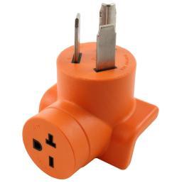 30 amp 3 prong 10 30p dryer plug to 6 20r 20 amp 250 volt hvac power tools adapter [ 1000 x 1000 Pixel ]