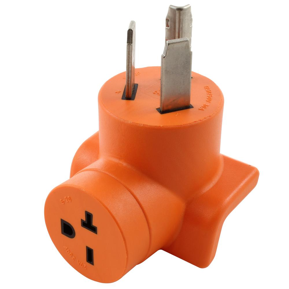 hight resolution of 30 amp 3 prong 10 30p dryer plug to 6 20r 20 amp 250 volt hvac power tools adapter