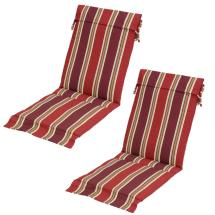 Chili Stripe Outdoor Sling Chair Cushion Pack Of 2 -7732