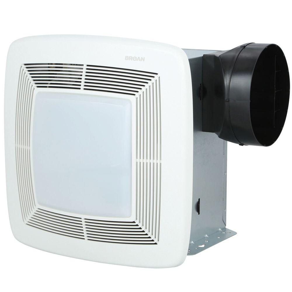 broan qtx series quiet 150 cfm ceiling exhaust bath fan with light