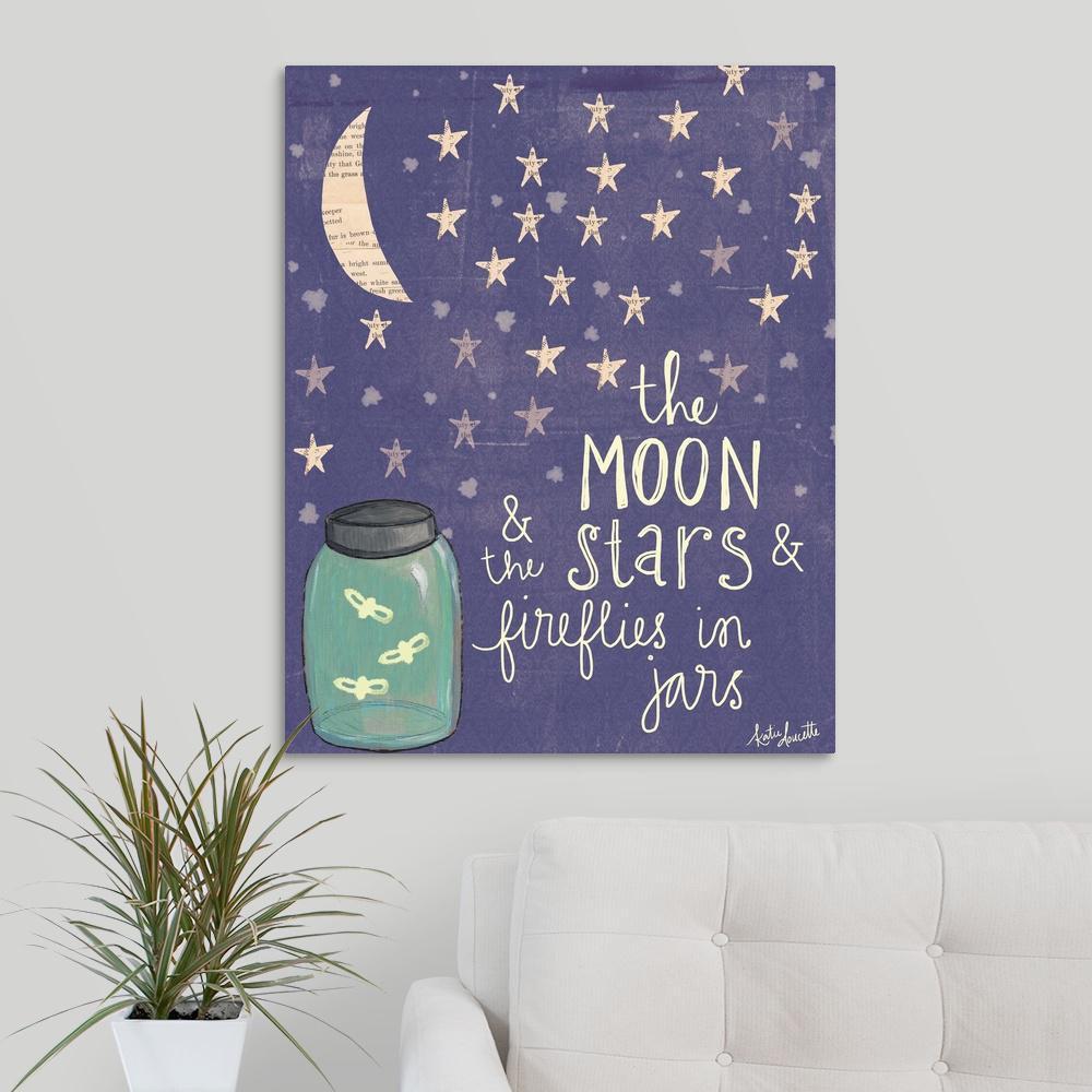 moon stars fireflies by