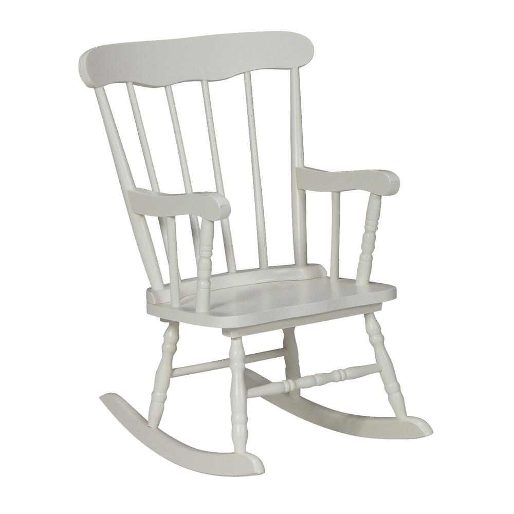 kids wood rocking chair baby high chairs canada international concepts white cr08 2465 the home