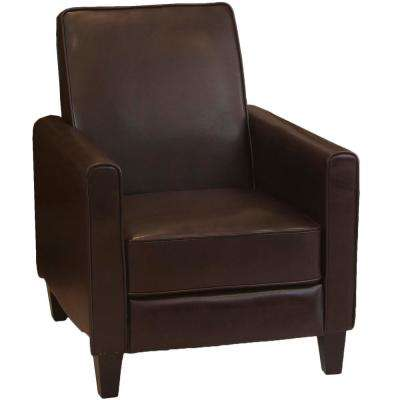 designer chairs for living room furniture dining modern recliner brown the darvis leather club chair