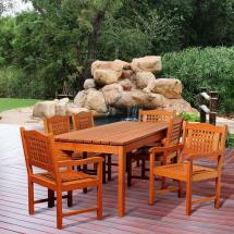 Carter 7-piece Eucalyptus Rectangular Patio