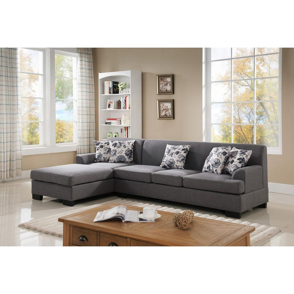 sofa gray color marks spencer review 2 piece grey linen sectional s0073 2pc the home depot