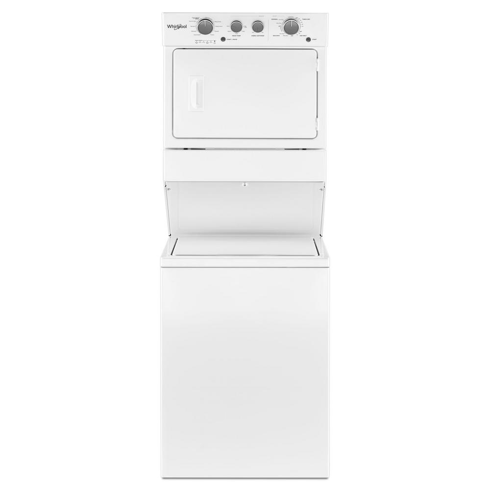 hight resolution of whirlpool 3 5 cu ft stacked washer and gas dryer with 9 wash cycles