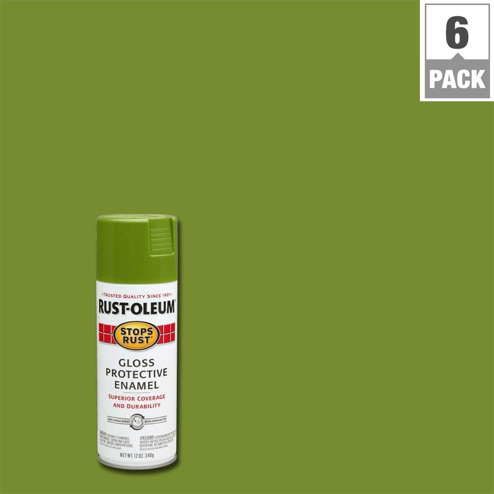 Rust Oleum Stops Rust 12 Oz Protective Enamel Gloss Black Spray Paint